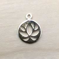 Sterling Silver Lotus Charm – CH140