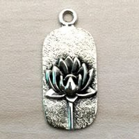 Sterling Silver Lotus Charm – CH141