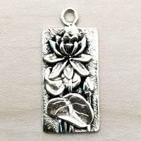 Sterling Silver Lotus Charm – CH142
