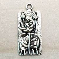 Sterling Silver Lotus Charm – CH143