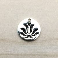 Sterling Silver Lotus Charm – CH145