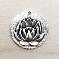 Sterling Silver Lotus Charm – CH147