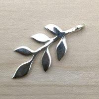 Sterling Silver Leaf Charm – CH154
