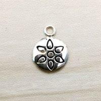 Sterling Silver Flower Charm – CH156